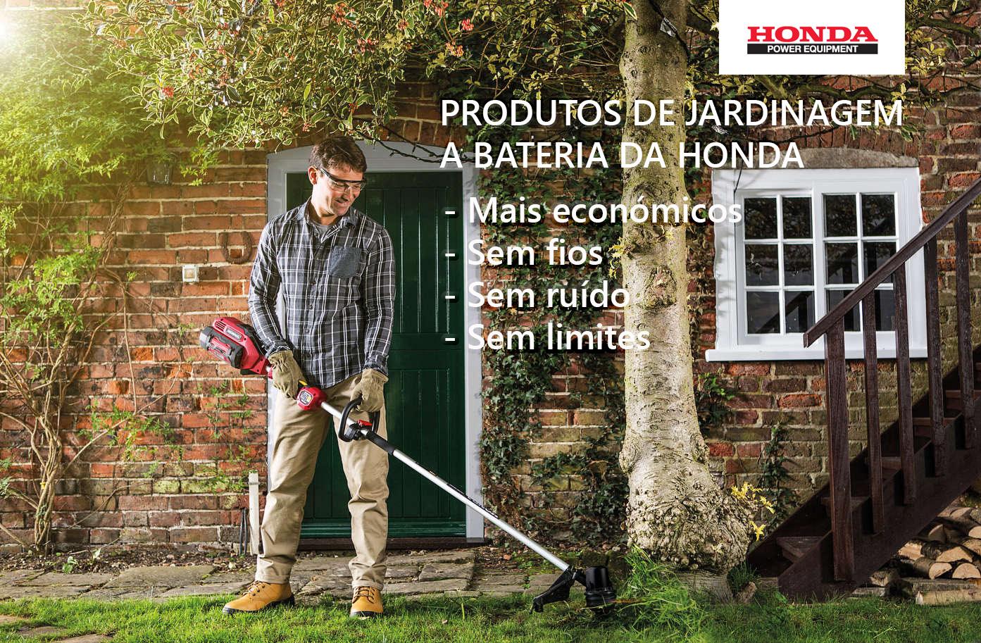 produtos de jardinagem a bateria da honda