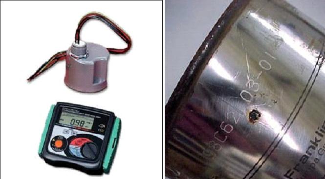 """Supressor de picos trifásico. Medidor de isolamento. Danos em motor de 4"""" por raio elétrico."""
