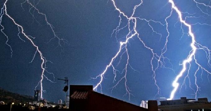 Imagem que mostra a enorme energia proveniente dos raios